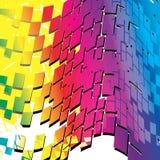 Futuristische kleurrijke achtergrond Stock Afbeelding