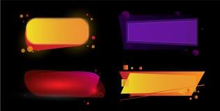 Futuristische kleurrijke banner Reeks geometrische banners van de gradiëntverkoop Stock Foto