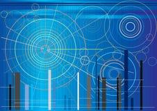 Futuristische Kreisformen lizenzfreie abbildung