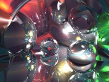 Futuristische kristalmotor met helder licht Stock Foto's