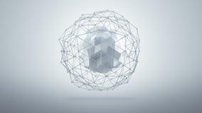 Futuristische lage polyvorm in studio 3d geef terug royalty-vrije illustratie