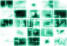 Futuristische Media-abstrakter Hintergrund Lizenzfreies Stockfoto