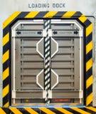 Futuristische metallische Tür lizenzfreie stockbilder