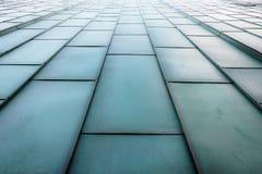 Futuristische metallische Treppen Stockfoto