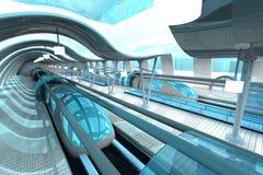 Futuristische metropost Stock Afbeeldingen