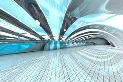 Futuristische metropost Royalty-vrije Stock Afbeeldingen