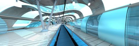 Futuristische metropost Stock Afbeelding