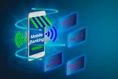Futuristische mobiele blanking voor toekomstige, geavanceerde smartphones prestatie stock foto's