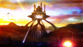 Futuristische Moskee Stock Afbeeldingen