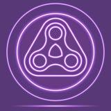Futuristische Neon het Gloeien Logo Icon Sensor stijl Vector eps10 Royalty-vrije Stock Fotografie