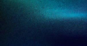 Futuristische Partikel bewegen abstrakten Hintergrund wellenartig Lizenzfreies Stockbild