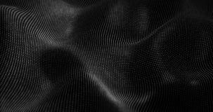 Futuristische Partikel bewegen abstrakten Hintergrund wellenartig Lizenzfreies Stockfoto