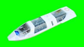 Futuristische passagiers vliegende bus Vervoer van de toekomst het 3d teruggeven isoleert royalty-vrije illustratie