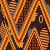 Futuristische patroonachtergrond Royalty-vrije Stock Fotografie