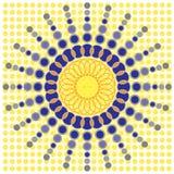 Futuristische Rimpeling met Wetenschappelijke Stemming Royalty-vrije Stock Afbeeldingen