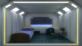 Futuristische ruimte en aarde Royalty-vrije Stock Foto's