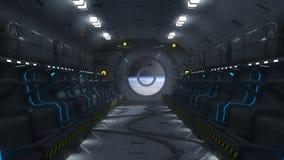 Futuristische ruimtebaai en zetels Stock Afbeeldingen