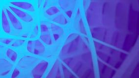 Futuristische samenstelling van omwentelings blauwe rond gemaakte vormen Abstracte animatie het 3d teruggeven HD resolutie vector illustratie