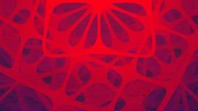 Futuristische samenstelling van omwentelings rode rond gemaakte vormen Abstracte animatie het 3d teruggeven HD resolutie vector illustratie