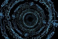 Futuristische Schnittstelle des Hologramms Lizenzfreie Stockfotos