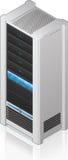 Futuristische Server-Zahnstange Stockfotografie