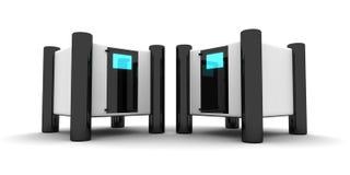 Futuristische servers stock illustratie