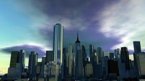 Futuristische stad Royalty-vrije Stock Afbeelding