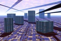 Futuristische Stadt Lizenzfreie Stockbilder