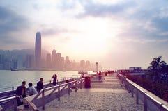 Futuristische Stadt Hong Kong Stockfotos