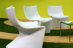 Futuristische stoelen Stock Afbeelding