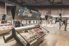 Futuristische supermarkt in Expo 2015 in Milaan, Italië stock fotografie