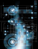 Futuristische technologieachtergrond Royalty-vrije Stock Afbeelding