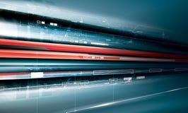 Futuristische technologieproductie Stock Afbeeldingen