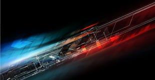 Futuristische technologieproductie royalty-vrije illustratie