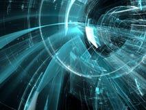 Futuristische tunnel - abstract digitaal geproduceerd beeld Royalty-vrije Stock Afbeeldingen