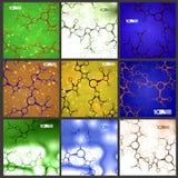 Futuristische vastgestelde DNA, abstracte molecule Stock Fotografie