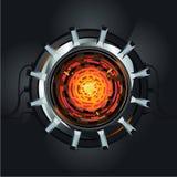 Futuristische vectormotor De reactor van de atoomenergie Toekomstig energie en machtsconcept royalty-vrije illustratie
