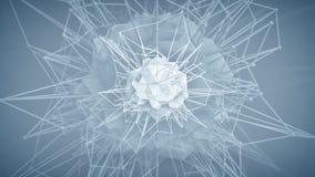 Futuristische veelhoekige kernvorm Abstracte 3D geeft terug vector illustratie