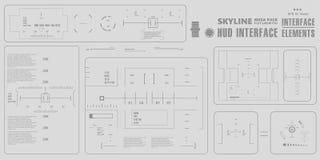 Futuristische virtuelle grafische NotenBenutzerschnittstelle, HUD Stockbilder