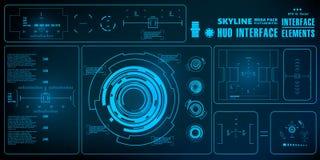 Futuristische virtuelle grafische NotenBenutzerschnittstelle, HUD Lizenzfreie Stockfotos