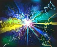 Futuristische virtuelle Technologie der glasigen Wellen der Galaxie Lizenzfreie Stockfotografie