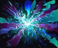 Futuristische virtuelle Technologie der glasigen Wellen der Galaxie Stockfotos