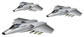 Futuristische Vliegtuigen Royalty-vrije Stock Afbeeldingen