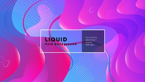 Futuristische vloeibare abstracte achtergrond Vloeibare blauwe roze gradiënt geometrische vormen EPS 10 vector vector illustratie