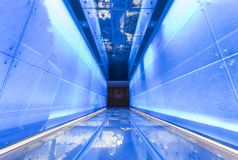 Futuristische voetgang royalty-vrije stock foto