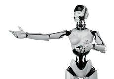 Futuristische vrouw met de wesptaille Royalty-vrije Stock Foto's