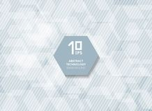 Futuristische weiße Hexagonüberlagerung der abstrakten Technologie mit Streifen Lizenzfreies Stockfoto
