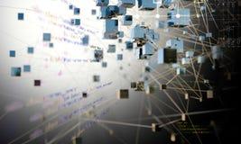 Futuristische wetenschap en technologieconceptenachtergrond 3D illustra Vector Illustratie