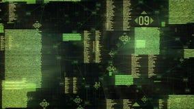 Futuristische widergespiegelte Auslegung stock video footage