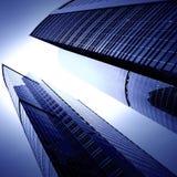 Futuristische wolkenkrabbers Stock Foto's